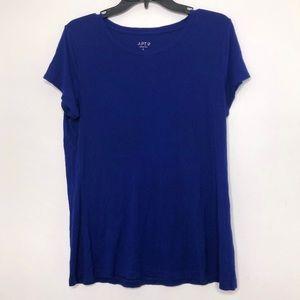 ❄️ Apt 9 Essentials Blue Tee Shirt Large 4/$20 ❄️
